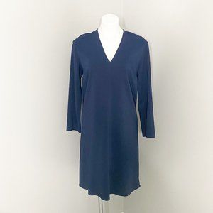 Vince Navy V-Neck Tunic Dress